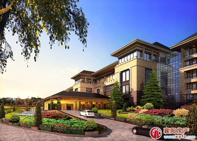 富春山居別墅建筑講究細節,以極致考究的精細工藝打造襄陽最美坡地